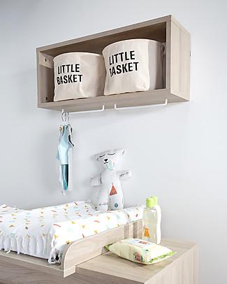 Childhome Little Basket, Cesto Portaoggetti in Cotone 100% - 23 cm diametro Contenitori Porta Giochi