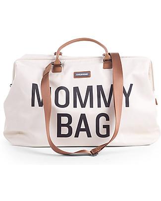 Childhome Mommy Bag, Borsa Fasciatoio 55 x 30 x 30 cm, Bianco - Include materassino per il cambio! Borse Cambio e Accessori