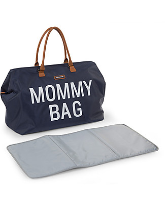 Childhome Mommy Bag, Borsa Fasciatoio 55 x 30 x 30 cm, Blu – Include materassino per il cambio! Borse Cambio e Accessori