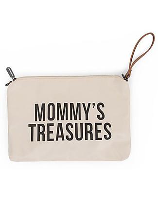 Childhome Mommy Treasures, Pochette Donna 33 x 23 x 3 cm, Bianca e Nera Borse Cambio e Accessori