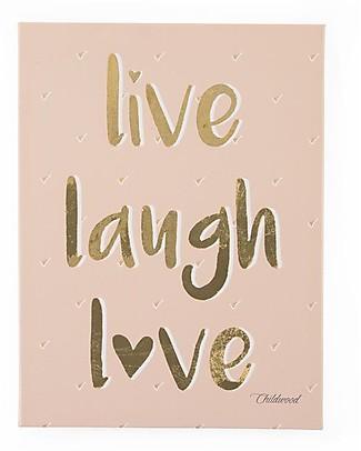 """Childhome Quadro ad Olio """"Live Laugh Love"""", 30x40 cm Decorazioni"""