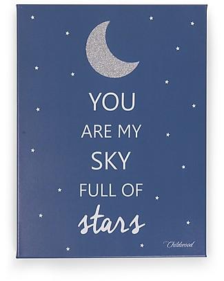 """Childhome Quadro ad Olio """"You are my sky full of stars"""", Blu - 30x40 cm Decorazioni"""