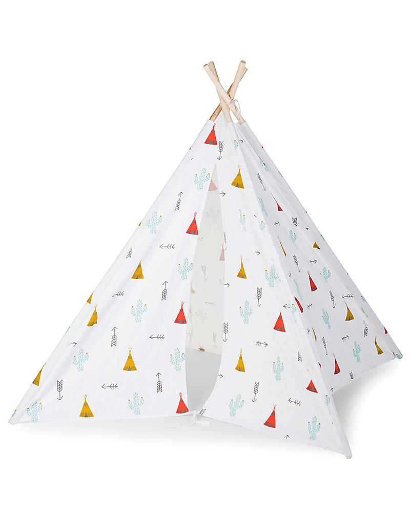 Tenda Indiani Fai Da Te childhome tenda gioco tipi in tela - dreamy tipi - con borsa