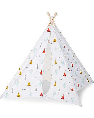 Childhome Tenda Gioco Tipi in Tela - Dreamy Tipi - Con borsa in tela per il trasporto! Tende