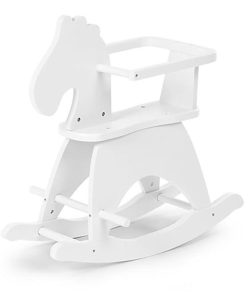 Cavallo A Dondolo Design.Childwood Cavallo A Dondolo Bianco Design E Divertimento