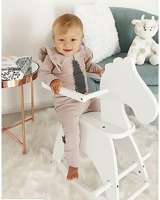 Childwood Cavallo a Dondolo Bianco - Design e divertimento, da 1 anno in su! Cavalcabili