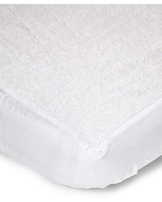 Childwood CopriMaterasso Impermeabile con Angoli, 70x140 cm - Bianco Materassi