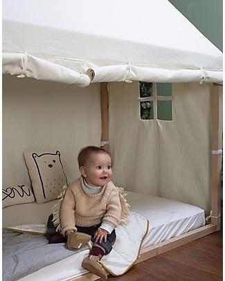 Childwood Cover Tipi per Struttura Letto Casetta ChildWood, Bianco  - 70 x 140 cm Letti Montessori