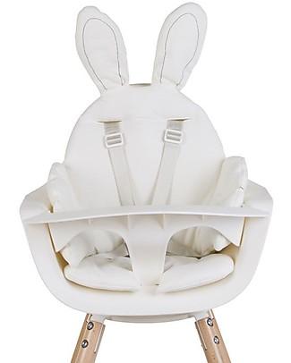 Childwood Cuscino per Seggiolone Coniglietto, Bianco Seggioloni