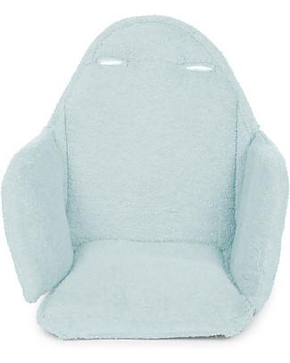 Childwood Cuscino Tricot per Seggiolone Evolutivo Evolu 2 Chair, Azzurro Menta null