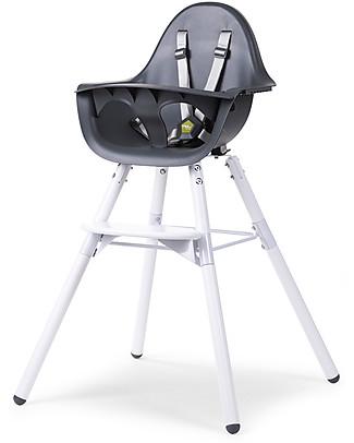 Childwood Evolu 2 Chair Seggiolone Evolutivo e Convertibile - Antracite/Bianco – Da 6 mesi a 6 anni Seggioloni