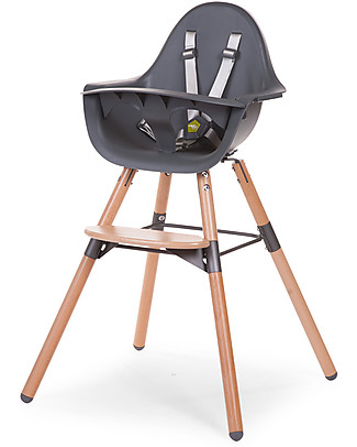 Childwood Evolu 2 Chair Seggiolone Evolutivo e Convertibile - Antracite/Legno – Da 6 mesi a 6 anni null