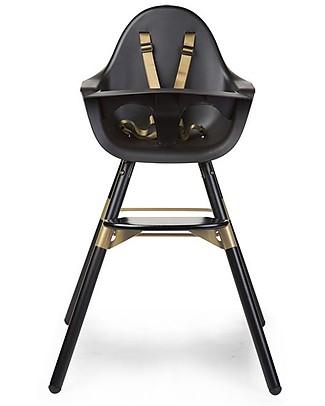 Childwood Evolu 2 Chair Seggiolone Evolutivo e Convertibile - Nero/Oro – Da 6 mesi a 6 anni Seggioloni