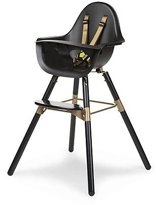 Childwood Evolu 2 Chair Seggiolone Evolutivo e Convertibile - Nero/Oro - Da 6 mesi a 6 anni null