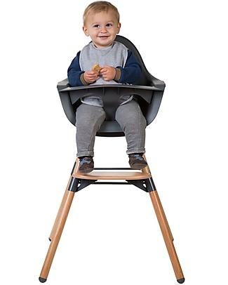 Childwood Evolu ONE.80° Seggiolone Evolutivo e Convertibile - Antracite  – Seduta Girevole! Seggioloni