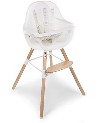 Childwood Evolu ONE.80° Seggiolone Evolutivo e Convertibile, Bianco  - Seduta Girevole! null