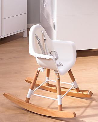 Childwood Kit Dondolo per Seggiolone Evolutivo Evolu 2 Chair, Legno Naturale Seggioloni