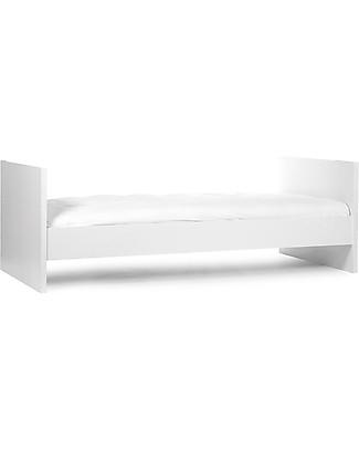 Childwood Lettino Evolutivo Quadro – Include kit per trasformarla da culla 60x120 cm a letto singolo 90x200 cm Lettini Con Sbarre