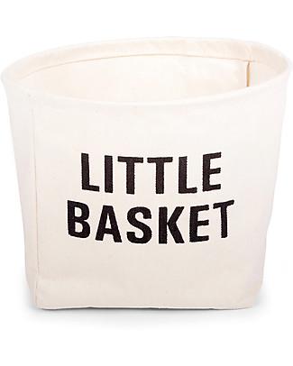 Childwood Little Basket, Cesto Portaoggetti in Cotone 100% - 23 cm diametro Contenitori Porta Giochi
