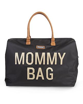 Childwood Mommy Bag, Borsa Fasciatoio 55 x 30 x 30 cm, Nero e Oro - Include materassino per il cambio! Borse Cambio e Accessori