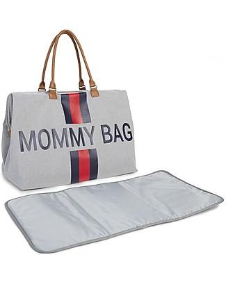 Childwood Mommy Bag, Borsa Fasciatoio 55 x 30 x 30 cm, Righe Blu/Rosso - Include materassino per il cambio! Borse Cambio e Accessori