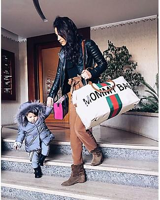 Childwood Mommy Bag, Borsa Fasciatoio 55 x 30 x 30 cm, Righe Verde/Rosso - Include materassino per il cambio! Borse Cambio e Accessori