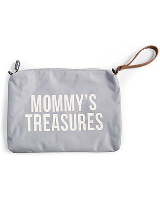 Childwood Mommy Treasures, Pochette Donna 33 x 23 x 3 cm, Bianca e Grigia Borse Cambio e Accessori