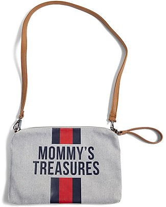 Childwood Mommy Treasures, Pochette Donna 33 x 23 x 3 cm, Righe Blu/Rosso Trousse & Pochette