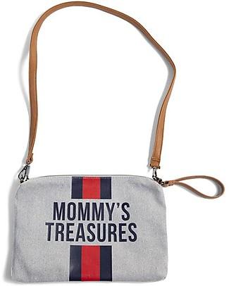 Childwood Mommy Treasures, Pochette Donna 33 x 23 x 3 cm, Righe Blu/Rosso Trousse & Pochette