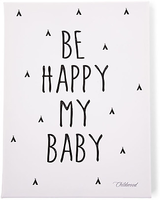 "Childwood Quadro ad Olio ""Be Happy My Baby"", 30x40 cm Decorazioni"