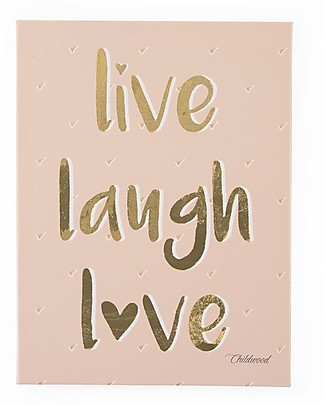 "Childwood Quadro ad Olio ""Live Laugh Love"", 30x40 cm Decorazioni"