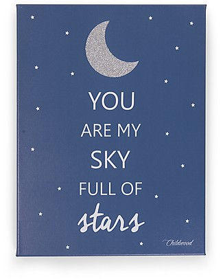 "Childwood Quadro ad Olio ""You are my sky full of stars"", Blu - 30x40 cm Decorazioni"