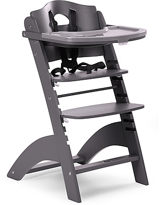 Childwood Seggiolone Evolutivo in Legno Lambda 2, Antracite – Diventa sedia normale, fino  a 85Kg! null
