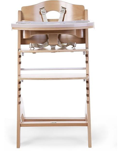 Childwood Seggiolone Evolutivo in Legno Lambda 3, Naturale - Diventa sedia normale, fino  a 85Kg! Seggioloni