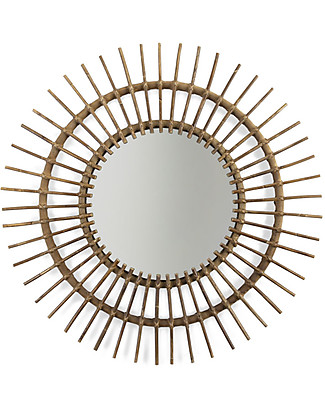 Childwood Specchio in Rattan Aura, Naturale - 90 x 5 x 90 cm Decorazioni