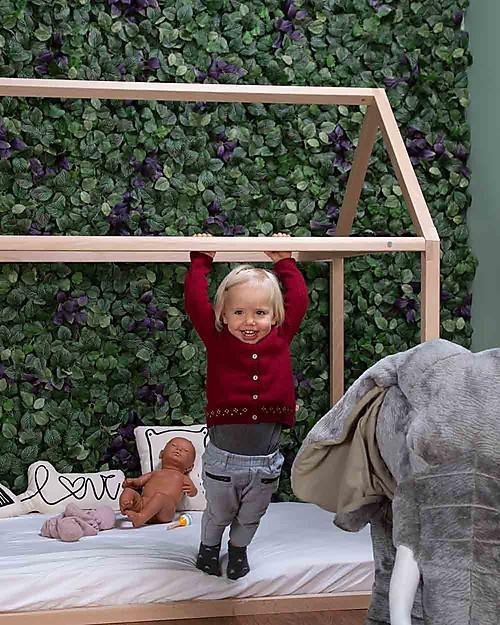 Childwood Struttura Letto Casetta Natural, Legno di Faggio Massello - 90 x 200 cm Letti Montessoriani