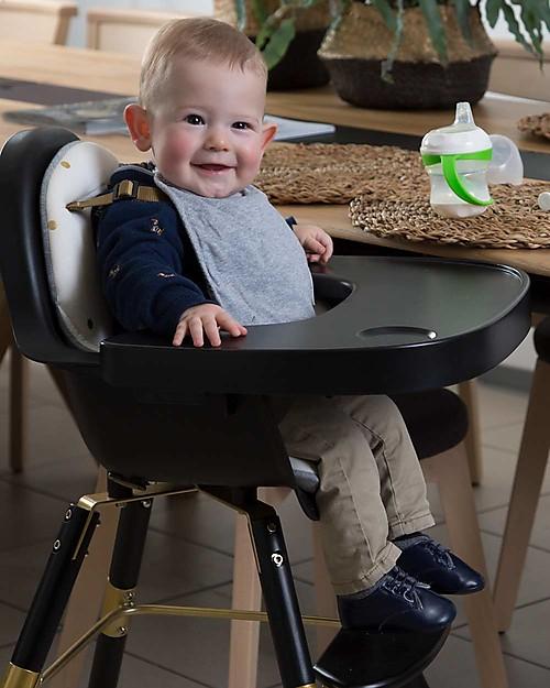 Childwood Vassoio Pappa per Seggiolone Evolutivo Evolu 2 Chair, Nero Seggioloni