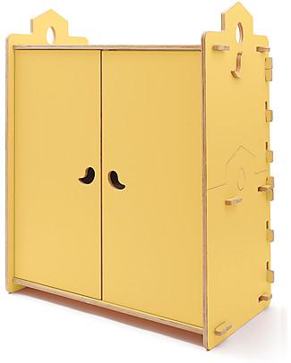 Cocò&Design Armadio Tana, Giallo Pera - 110x60x120 cm - Legno di pioppo Cassettiere