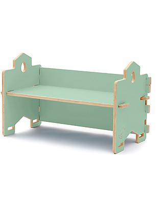 Cocò&Design Panca Libreria Impilabile Cecco, Verde Mela - 82×40x30 cm - Legno di pioppo Librerie