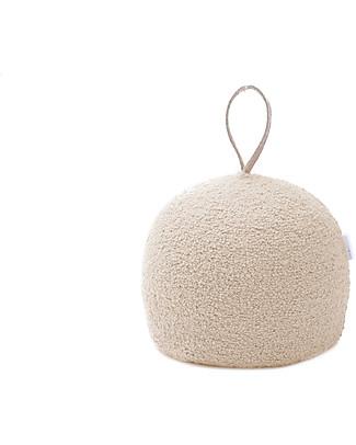 Cocò&Design Pouf  Rotondo Coccola, Latte - 30x30x30 cm - Lana e pula di farro bio null