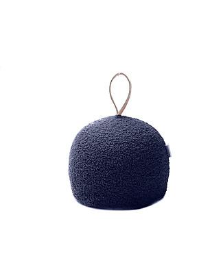 Cocò&Design Pouf  Rotondo Coccola, Mirtillo  - 30x30x30 cm - Lana e pula di farro bio null