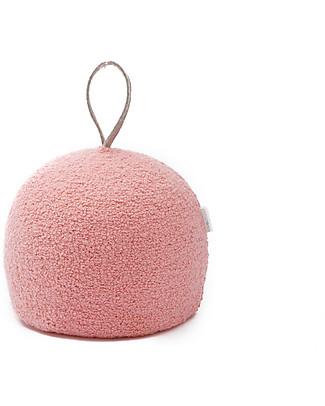 Cocò&Design Pouf  Rotondo Coccola, Rosa Pesca - 30x30x30 cm - Lana e pula di farro bio null