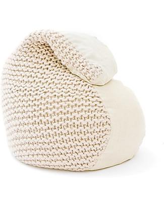 Cocò&Design Sacco Pouf Bimbi Nuvolana, Avena - 80×60x20 cm - Lana, lino e farro bio null