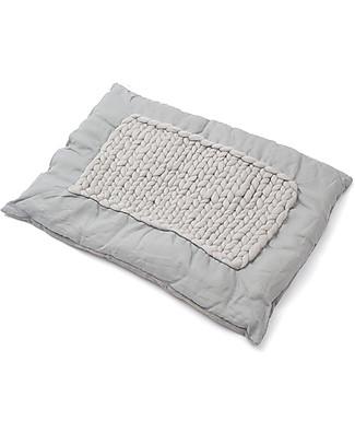 Cocò&Design Tappeto Imbottito Labou, Gelso - 80×60x20 cm - Bambù, lino e lana Tappeti