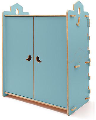 Cocò&Design Armadio Tana, Azzurro Gelso - 110x60x120 cm -Legno di pioppo null