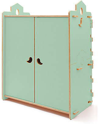 Cocò&Design Armadio Tana, Verde Mela - 110x60x120 cm - Legno di pioppo Cassettiere
