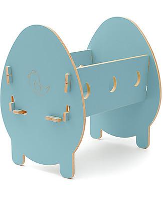 Cocò&Design Culla Bella, Azzurro Gelso - 75x40x33 cm - Legno di pioppo Culle e Ceste