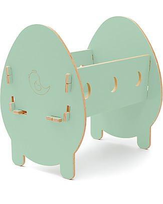 Cocò&Design Culla Bella, Verde Mela - 75x40x33 cm - Legno di pioppo null