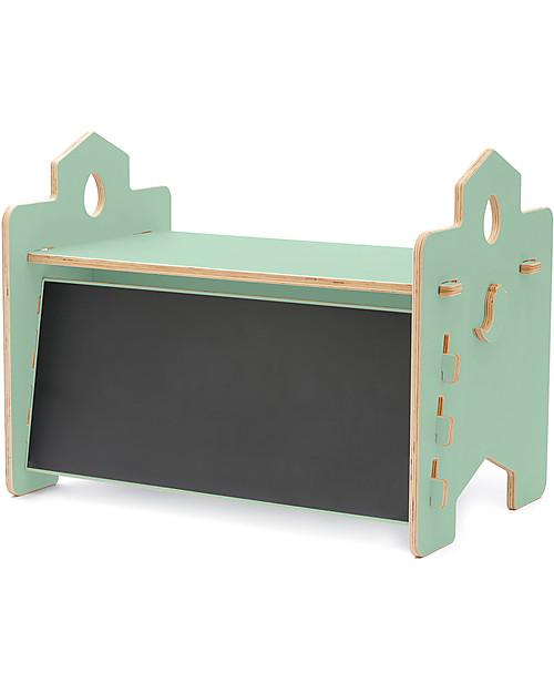 Scrivania Verde Mela.Coco Design Scrivania Lavagna Rigo Verde Mela 90x53x50 Cm
