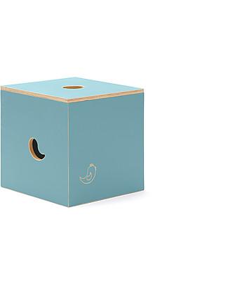 Cocò&Design Sedia e Box Contenitore Duccio, Azzurro Gelso - 40x40x40 cm - Legno di pioppo null